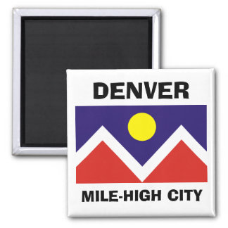 Denver, Colorado Flag Magnet
