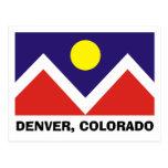 Denver, Colorado Flag Post Cards