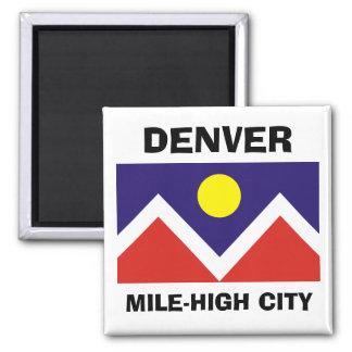Denver, Colorado Flag Square Magnet