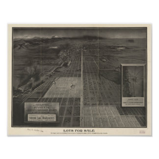 "Denver Colorado ""Lots for Sale"" 1907 Panoramic Map Poster"
