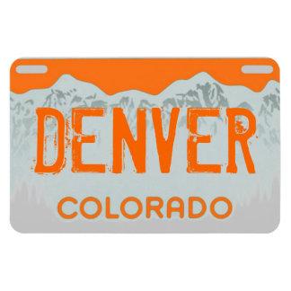 Denver Colorado orange license plate magnet