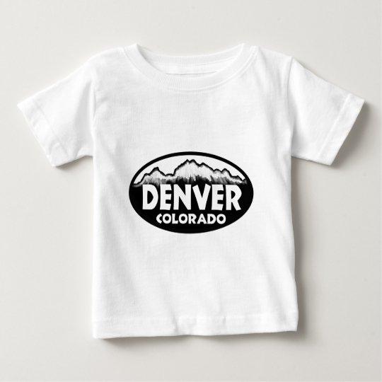 Denver Colorado oval mountains Baby T-Shirt