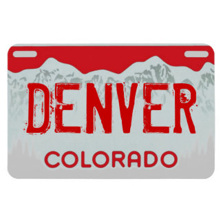 Denver Colorado red license plate magnet
