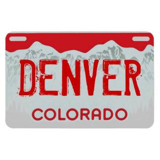 Denver Colorado red license plate magnet