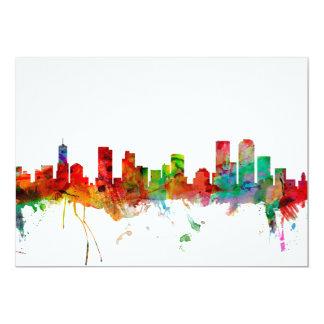 Denver Colorado Skyline 13 Cm X 18 Cm Invitation Card