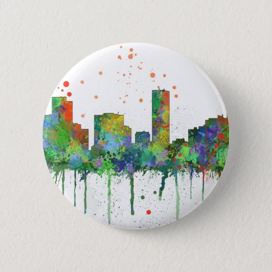 DENVER, COLORADO SKYLINE 6 CM ROUND BADGE