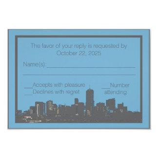 Denver Colorado skyline custom RSVP cards 9 Cm X 13 Cm Invitation Card