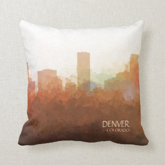 Denver, Colorado Skyline-In the Clouds Cushion