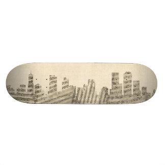 Denver Colorado Skyline Sheet Music Cityscape 21.3 Cm Mini Skateboard Deck
