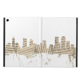 Denver Colorado Skyline Sheet Music Cityscape iPad Air Cover