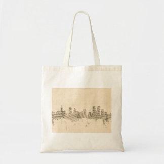 Denver Colorado Skyline Sheet Music Cityscape Tote Bag