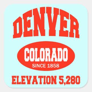Denver Colorado Square Sticker