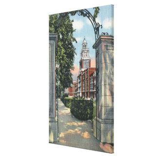 Denver, Colorado - Vista of East High School Gallery Wrap Canvas