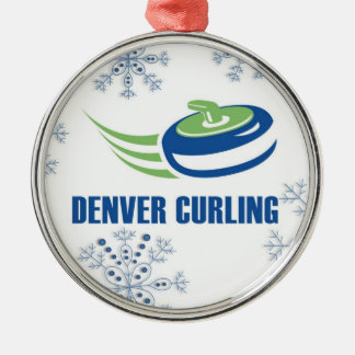 Denver Curling Snowflake Christmas Ornament