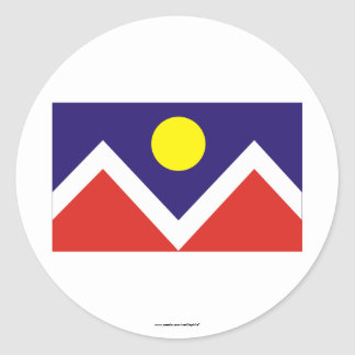 Denver Flag Classic Round Sticker