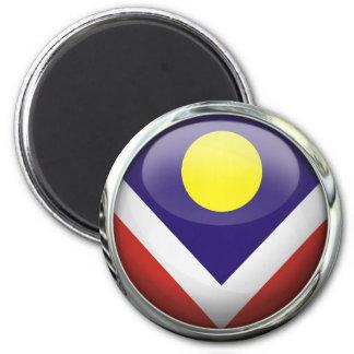 Denver Flag Glass Ball 6 Cm Round Magnet