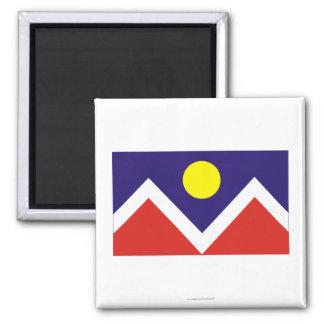 Denver Flag Square Magnet