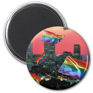 Denver Flying Pride Magnet