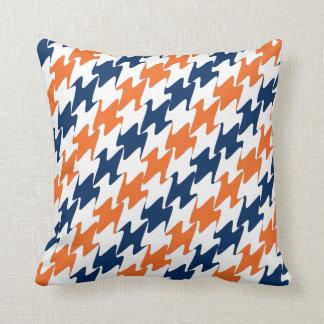 Denver Football Orange Blue & White Team Colors Cushion