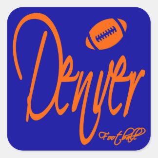 Denver Football Square Sticker
