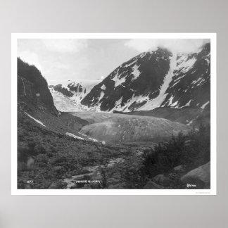 Denver Glacier Alaska 1914 Print