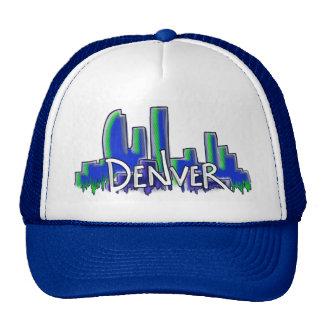 Denver graffiti style skyline hats