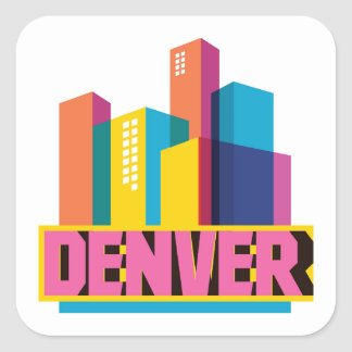 Denver In Design Square Sticker