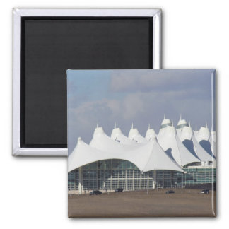 Denver International Airport Main Terminal Buildin Square Magnet