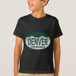 Denver License oval T-Shirt