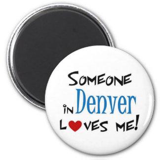 Denver love 6 cm round magnet