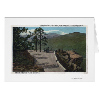 Denver Mountain Park, CO - Wildcat Point Lariat Greeting Card