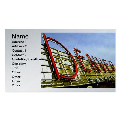 Denver Pavilion Business Cards