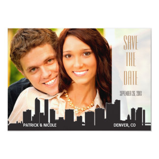 Denver Save the Date City Series 13 Cm X 18 Cm Invitation Card