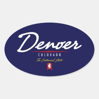 Denver Script Oval Sticker