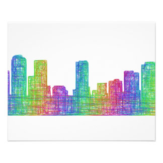 Denver skyline 11.5 cm x 14 cm flyer