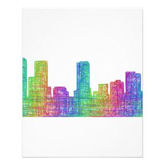 Denver skyline 11.5 cm x 14 cm flyer