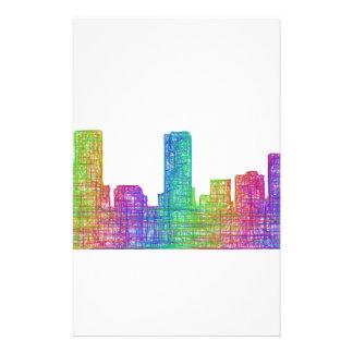Denver skyline 14 cm x 21.5 cm flyer