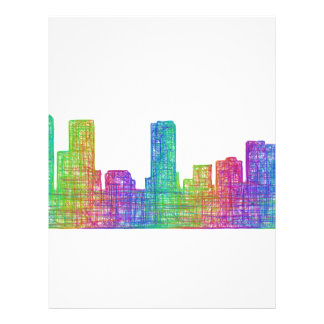 Denver skyline 21.5 cm x 28 cm flyer