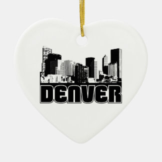 Denver Skyline Christmas Ornament