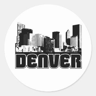 Denver Skyline Classic Round Sticker