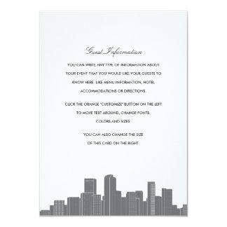 Denver Skyline Wedding Insert Card 11 Cm X 16 Cm Invitation Card