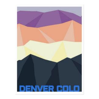 Denver Sunset Postcard