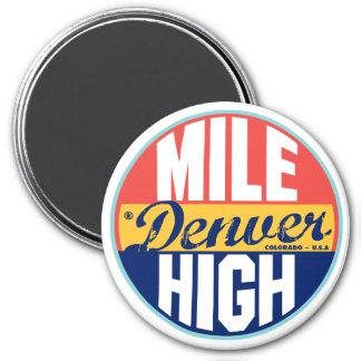 Denver Vintage Label 7.5 Cm Round Magnet