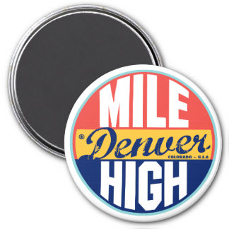 Denver Vintage Label Magnet