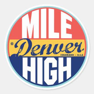 Denver Vintage Label Round Sticker