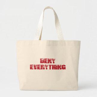 Deny Everything Jumbo Tote Bag