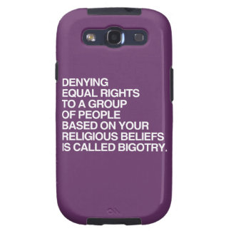 DENYING EQUAL RIGHTS BASED ON YOUR RELIGIOUS BELIE GALAXY S3 COVER