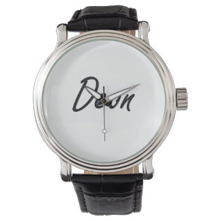 Deon Artistic Name Design Wristwatch