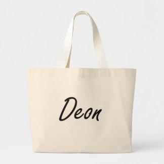 Deon Artistic Name Design Jumbo Tote Bag