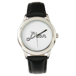 Deon Classic Retro Name Design Wristwatch